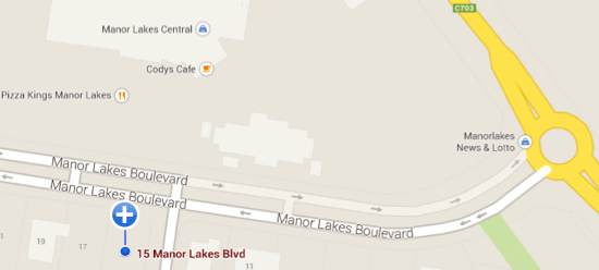 Manor Lakes Blvd Dental Centre Map